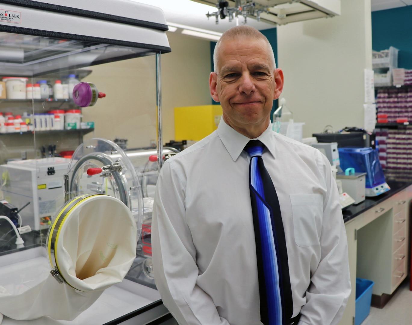 Naval Medical Research Unit-San Antonio's chief science director Sylvain Cardin, Ph.D.