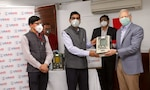 Ambassador Kenneth I. Juster at the Ventilator Donation Press Event at Indian Red Cross Society