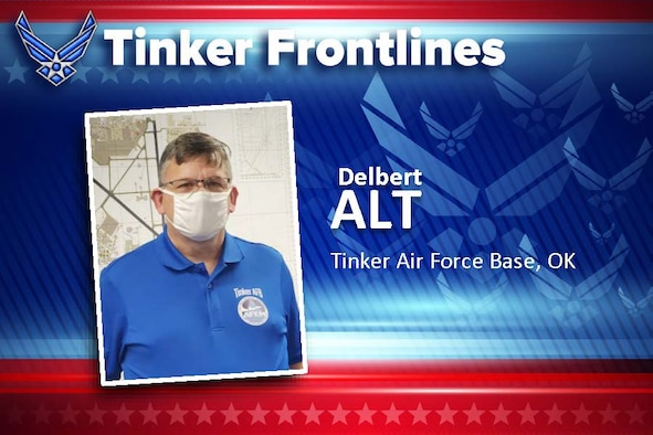 Delbert Alt is an Emergency Management specialist in the Tinker Emergency Operations Center.