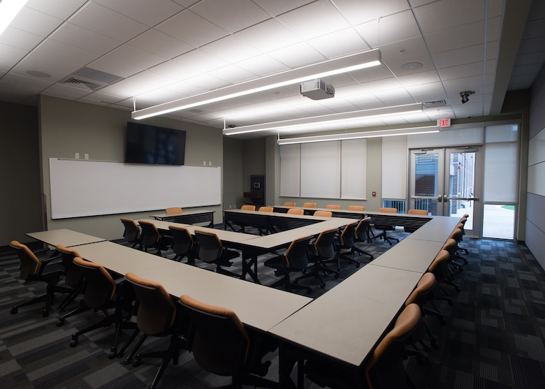 An empty classroom at the I.G. Brown Training and Education Center on McGhee Tyson Air National Guard Base in East Tennesee. (U.S. Air National Gaurd photo/Master Sgt. Jonathon Young)