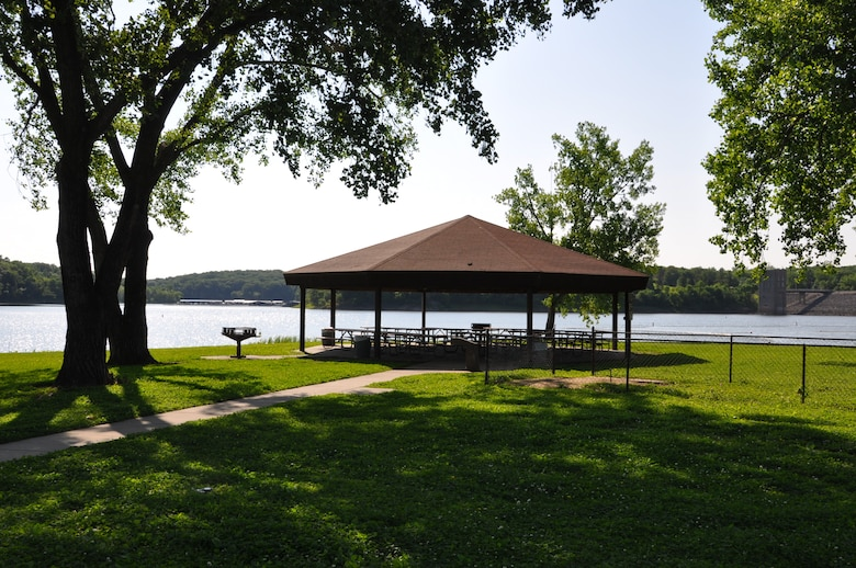 Picnic Shelter in West Overlook Day Use Area at Coralville Lake