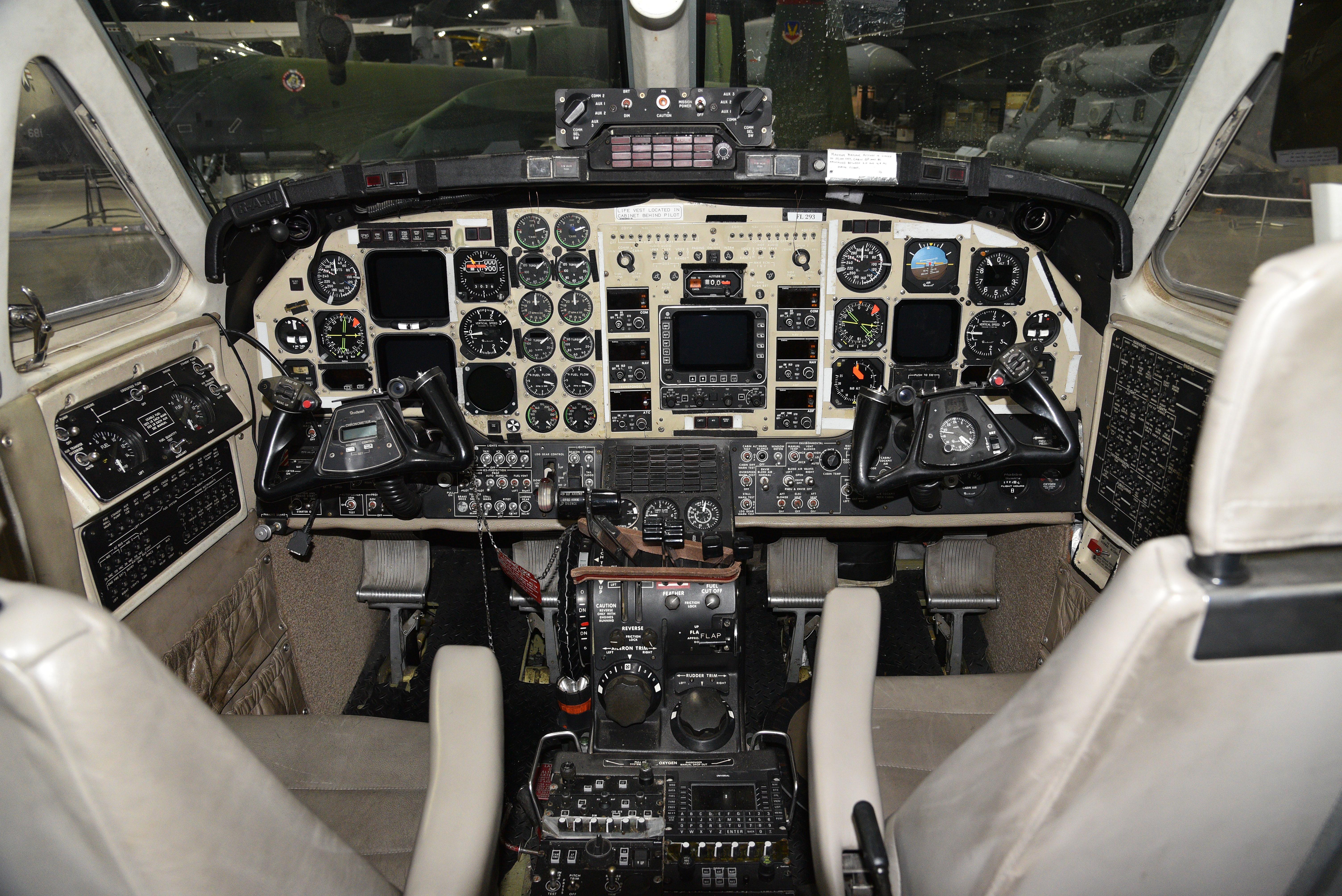 Hawker-Beechcraft MC-12W Liberty cockpit