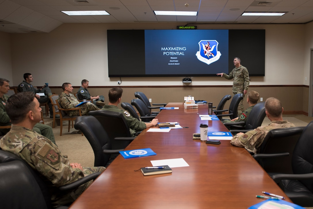A photo of a briefing.