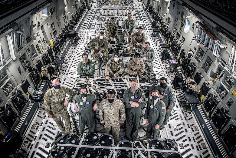 The 305th Air Mobility Wing to deliver 6,000 gallons of sanitizer solution to multiple bases throughout the U.S., for its use in the fight against COVID-19.