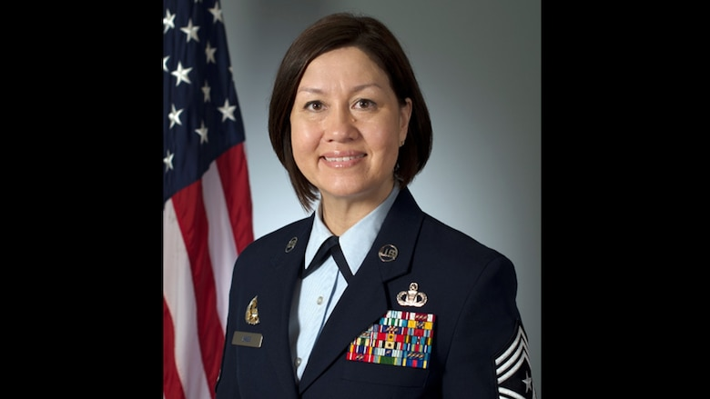 Chief Master Sgt. JoAnne S. Bass was selected June 19 to become the 19th Chief Master Sergeant of the Air Force, becoming the first woman in history to serve as the highest ranking noncommissioned member of a U.S. military service. (U.S. Air Force graphic)