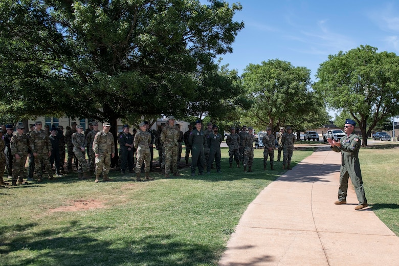 97th Training Squadron teal rope ceremony.