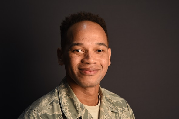 Tech. Sgt. Lorenzo Frankin works in the 403rd Wing Equal Opportunity office at Keesler Air Force Base, Biloxi, Mississippi. (U.S. Air Force photo by Tech. Sgt. Michael Farrar)