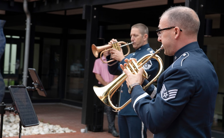 Members of the U.S. Air Forces in Europe Band toured communities to help encourage public goodwill in areas surrounding Spangdahlem Air Base