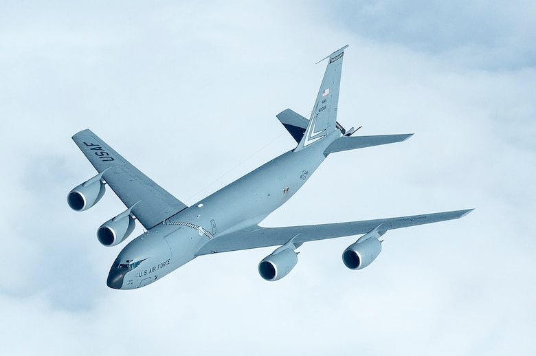 A Michigan Air National Guard KC-135T from the 171st Air Refueling Squadron at Selfridge ANG Base in flight on a refueling mission over central United States. (U.S. Air National Guard photo by Munnaf Joarder)