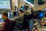 Members of the Colorado National Guard's Task Force Cyber help Colorado Secretary of State's Office and Office of Information Technology to monitor network traffic and protect election infrastructure Nov. 6, 2018, in Denver. (U.S. Air National Guard Photo by Maj. Darin Overstreet)