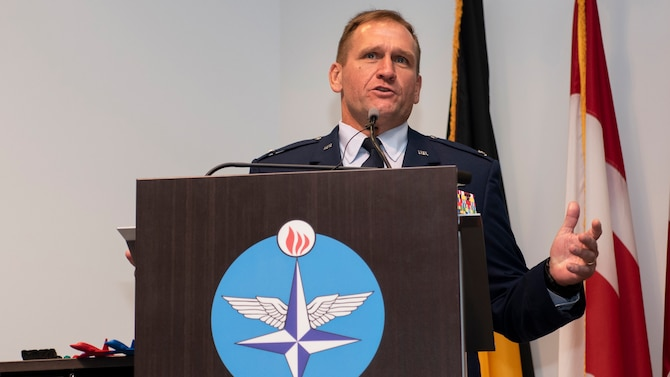 Haas addresses in-person, virtual audience during change of command ceremony