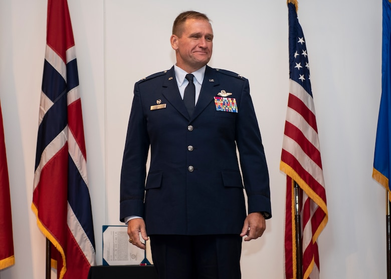 Haas recognized after accepting command of 80th FTW