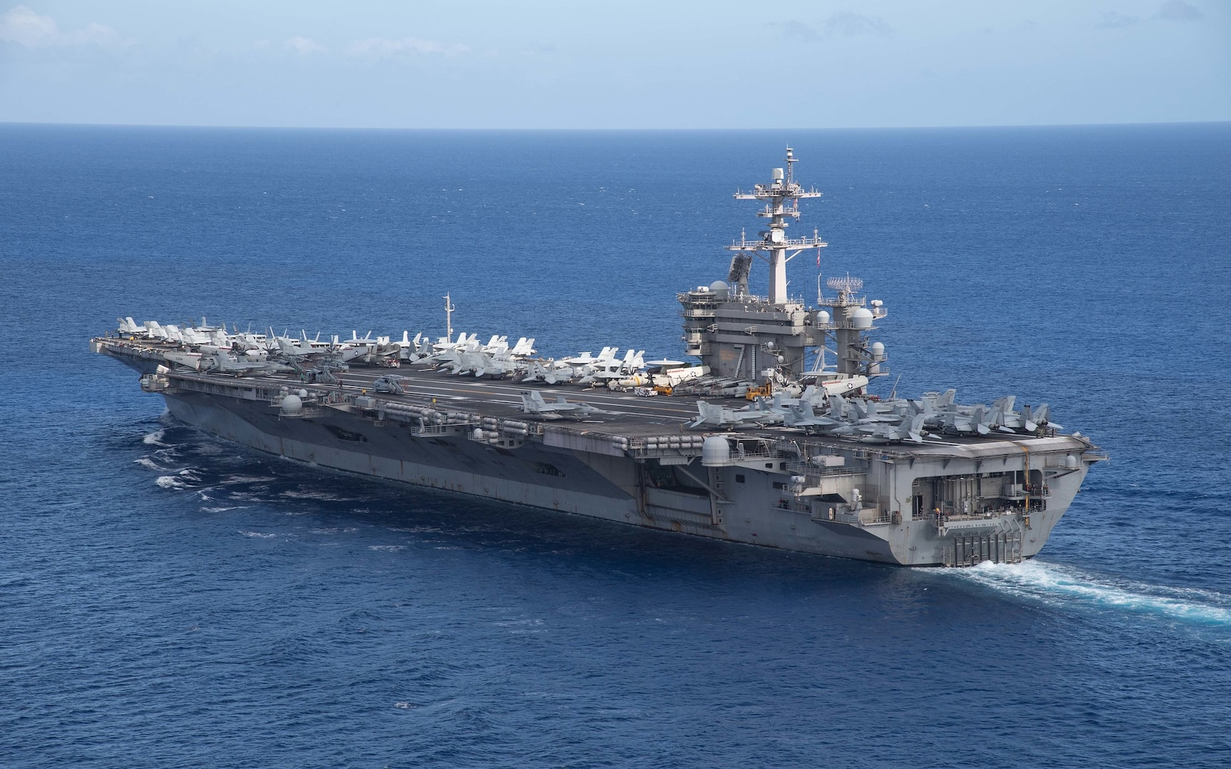 Theodore Roosevelt, Nimitz Carrier Strike Groups Operate Together in 7th Fleet