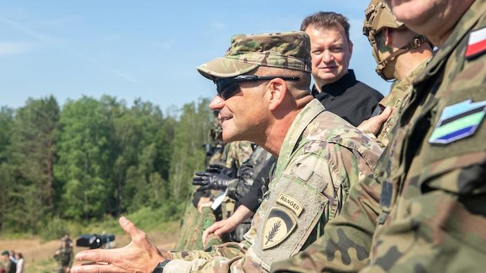 Polish Minister of Defense, U.S. Ambassador, U.S. Army Europe Commander visit Allied Spirit Troops