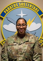 Master Sgt. Leatrice Pierce, 403rd Operations Support Squadron aircrew flight equipment, was selected as the 403rd Wing's first quarter award winner in the civilian category II. (U.S. Air Force photo by Tech. Sgt. Christopher Carranza)