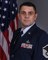 Master Sgt. Joshua Finkelstein, 5th Operational Weather Flight training element chief, was selected as the 403rd Wing's first quarter award winner in the senior noncommissioned officer category. (U.S. Air Force official photo)
