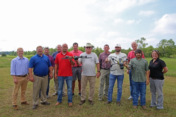 Employees from across the U.S. Army Corps of Engineers attend the USACE unmanned aerial systems training course at Hinds Community College in Raymond, Mississippi. The training program has been extremely beneficial to the USACE Aviation Program. (U.S. Army Corps of Engineers photo)