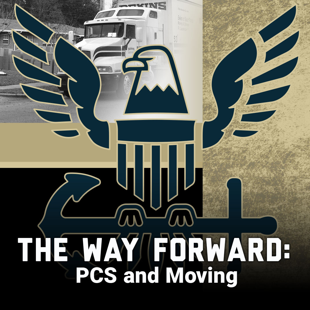The way forward: pcs thumbnail showing navy logo and picture of truck