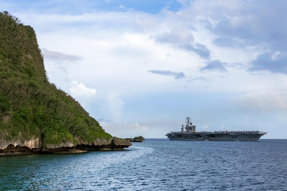 Nimitz Carrier Strike Group Arrives in Guam for Safe Haven Liberty