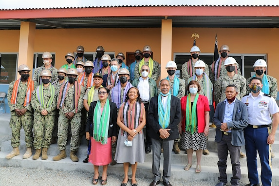 U.S. Navy Seabees Complete 100th Construction Project in Timor-Leste.