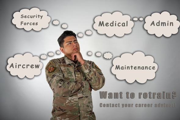 The 39th Air Base Wing's Titan University is preparing to launch its virtual job: a video library designed to give enlisted Airmen as much information as possible about the job they want to retrain into. (U.S. Air Force illustration by Staff Sgt. Joshua Magbanua)