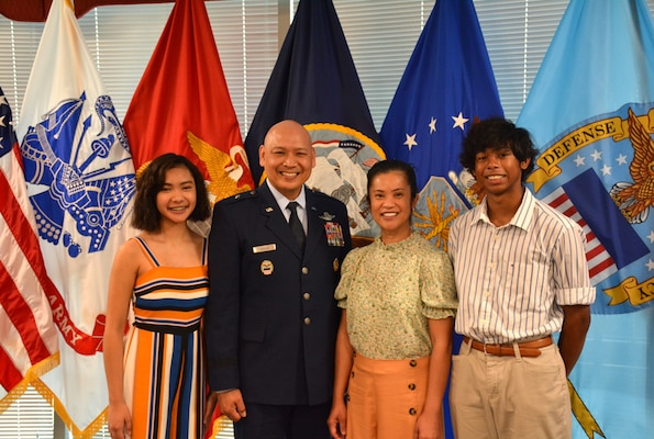 Air Force Brig. Gen. Jimmy Canlas and three members of his family
