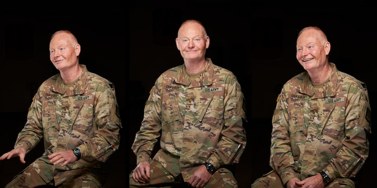U.S. Army Reserve CH (Maj.) Colin Durham, a chaplain with the 335th Signal Command (Theater), poses for a portrait at East Point, Georgia, May 28, 2020.