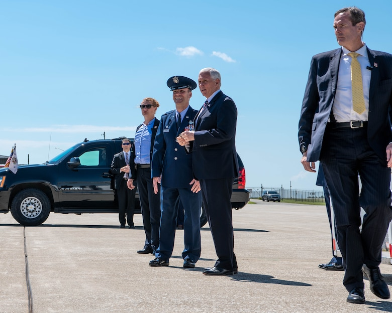 U.S. Vice President Mike Pence landed at YARS before attending a local event June 25, 2020.