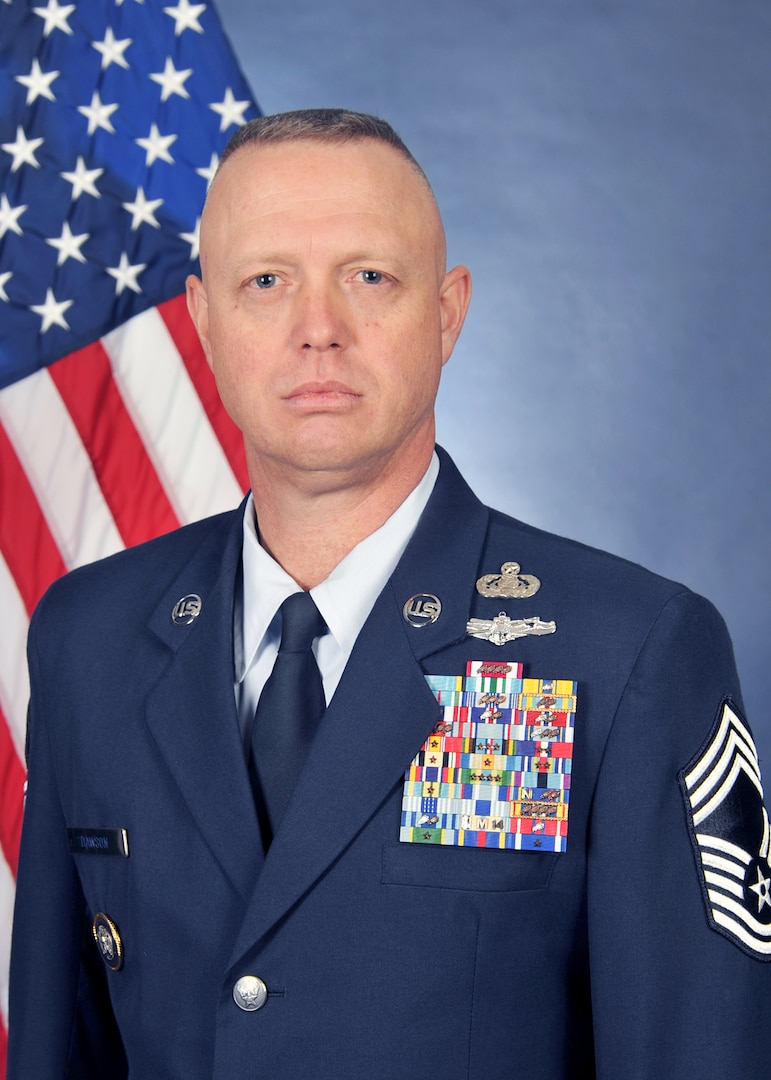 Throughout his time at U.S. Strategic Command, U.S. Air Force Chief Master Sgt. Richard Dawson, Human Capital Superintendent and Air Reserve component senior enlisted leader, challenged the enlisted who fall under him to participate in Joint Professional Military Education. At USSTRATCOM, Dawson is directly responsible for more than 500 enlisted Soldiers, Sailors, Marines, Airmen.
