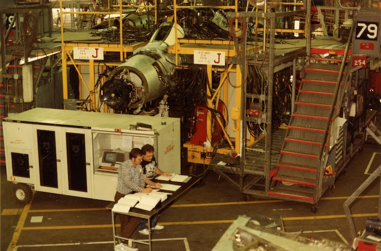 Ogden's automatic circuit analyzer verifies 20,000 F-4 wire terminals and 11,000 separate. The Ogden Air Logistics Center continued to support the F-4 into the 1980s as it had throughout the 1970s.