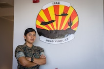 U.S. Marine Corps LCpl Vanessa HernandezLopez, an administrative specialist with Installation Personnel Admin Center (IPAC), Marine Corps Air Station (MCAS) Yuma, conduct their daily routine on MCAS Yuma, June 10, 2020. IPAC handles all administrative services to all Marines and their family members assigned to MCAS Yuma. (U.S. Marine Corps photo by Lance Cpl John Hall)