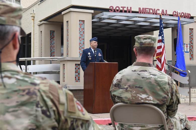 Photo of Colonel Anthony Mastalir speaking at podium