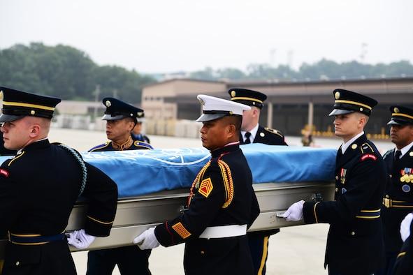 UNC Honor Guard moves a transfer case