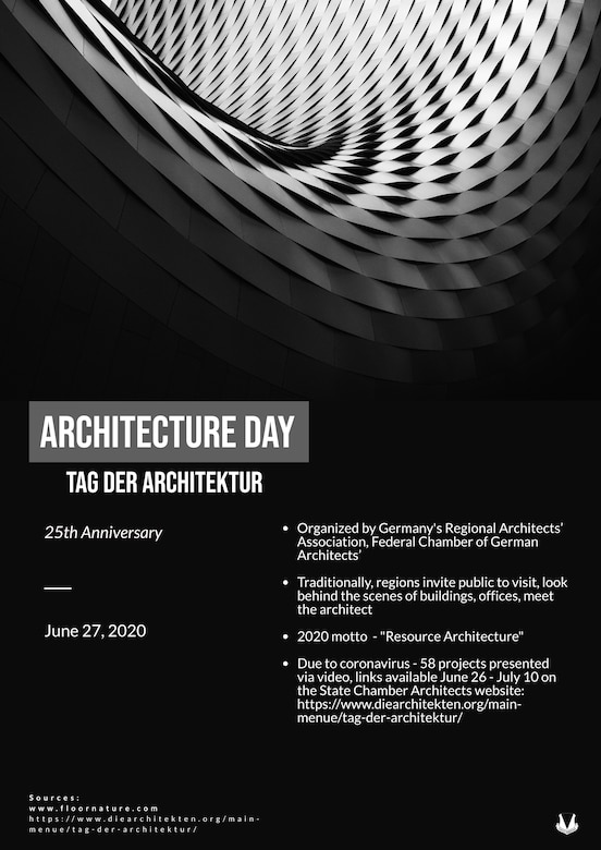 """Tag der Architektur"" translates to ""Architecture Day."" Graphic designed to promote the continuation of Ramstein Air Base's Beyond the Bier series. Beyond the Bier is a cultural series based on German customs, traditions and history in the Kaiserslautern Military Community, designed to let people get to know why our neighbors celebrate, and commemorate certain holidays and observances. (U.S. Air Force graphic illustration by Tech. Sgt. J. Smith)"