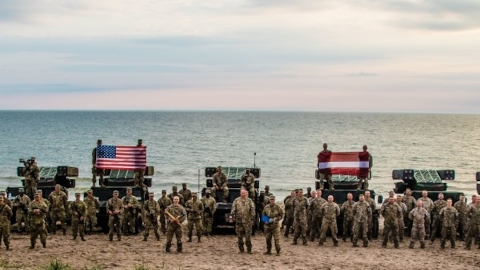 JURMALCIEMS, Latvia -- U.S. Soldiers assigned to 5th Battalion, 4th Air Defense Artillery Regiment, 10th Army Air and Missile Defense Command, participated in a joint multinational training exercise with NATO allies, Latvia and Lithuania from June 7–10, 2020 in Jurmalciems, Latvia.