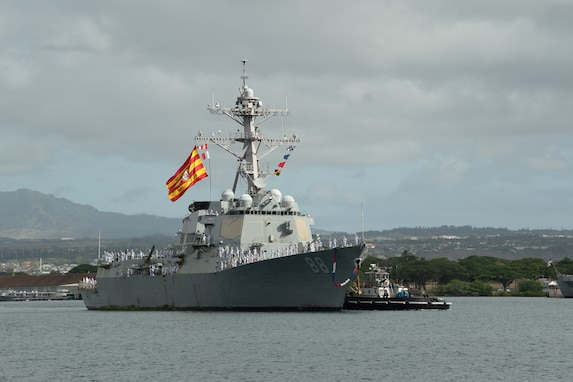 USS Preble Returns after Successful Counter-narcotics Deployment