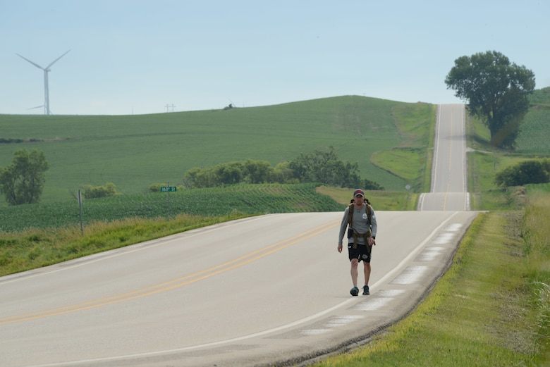 Technical Sgt. Jeff Campbell is walking across the state of Iowa, in order to raise awareness about mental health.