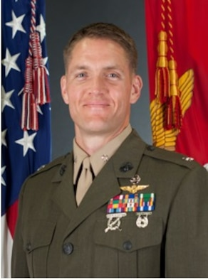 United States Marine Corps Lt. Col. James C. Paxton III earned a master's degree in aeronautical engineering from the Air Force Institute of Technology's Graduate School of Engineering and Management in 2014. (U.S. Marines official photo)
