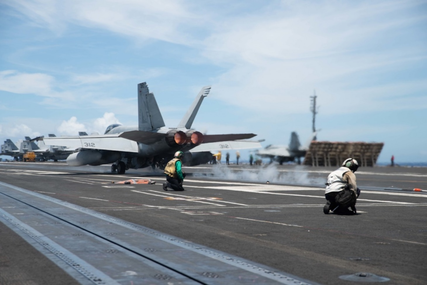 Official U.S. Navy photo of an F/A-18F Super Hornet from the aircraft carrier USS Ronald Reagan (CVN 76)