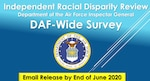 On June 2, 2020, Secretary of the Air Force Barbara M. Barrett, Air Force Chief of Staff Gen. David L. Goldfein, and Chief of Space Operations Gen. John W. Raymond directed the Department of the Air Force Inspector General to conduct a review into racial disparity in the Department of the Air Force.