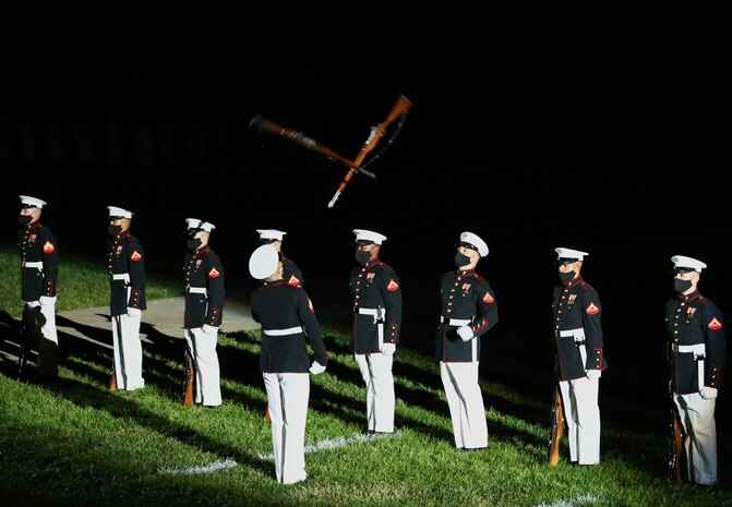 The hosting official for the evening was Col. Teague A. Pastel, commanding officer, Marine Barracks Washington, and the 38th Commandant of the Marine Corps, Gen. David H. Berger, was the guest of honor.