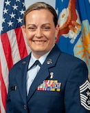 Official Air Force photo for Chief Master Sgt. Jessica Settle. Settle is the command chief master sergeant for the 131st Bomb Wing, Missouri Air National Guard. (U.S. Air National Guard photo by Tech. Sgt. John E. Hillier)