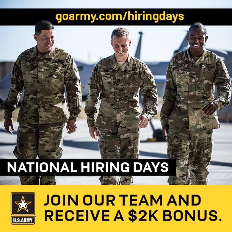 Army National Hiring Days