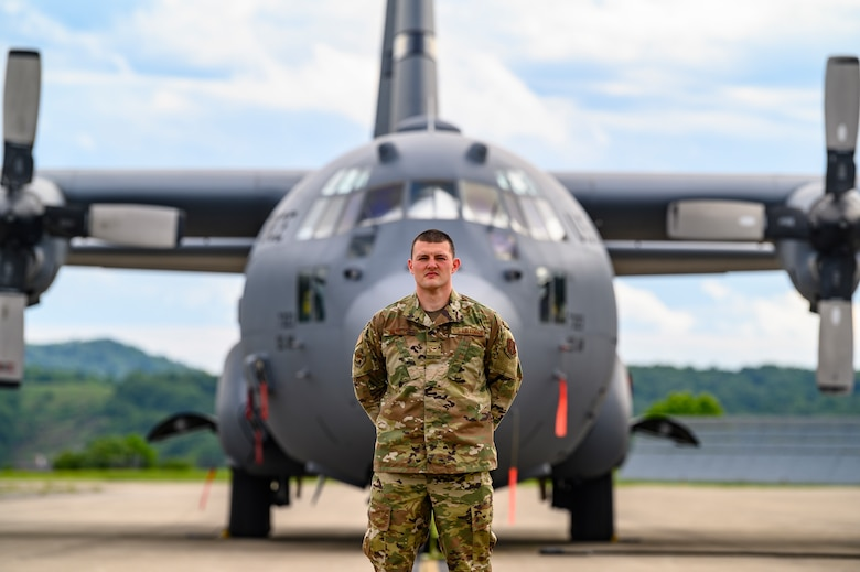 A portrait of Airman 1st Class Greg Worley, a Munitions System specialist, assigned to the 130th Maintenance Squadron (MXS). (U.S. Air National Guard photo by Master Sgt. De-Juan Haley)
