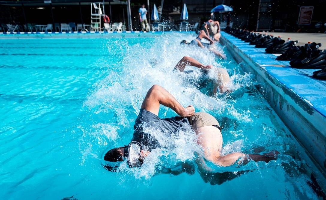 Dive training.