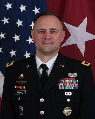 Brigadier General Jered P. Helwig, US Army