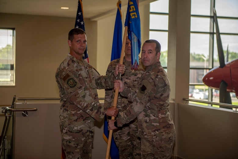 4 LRS change of command ceremony