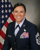 """A photo of 388th Fighter Wing Command Chief Master Sgt. Karen """"Liz"""" Cloyd."""