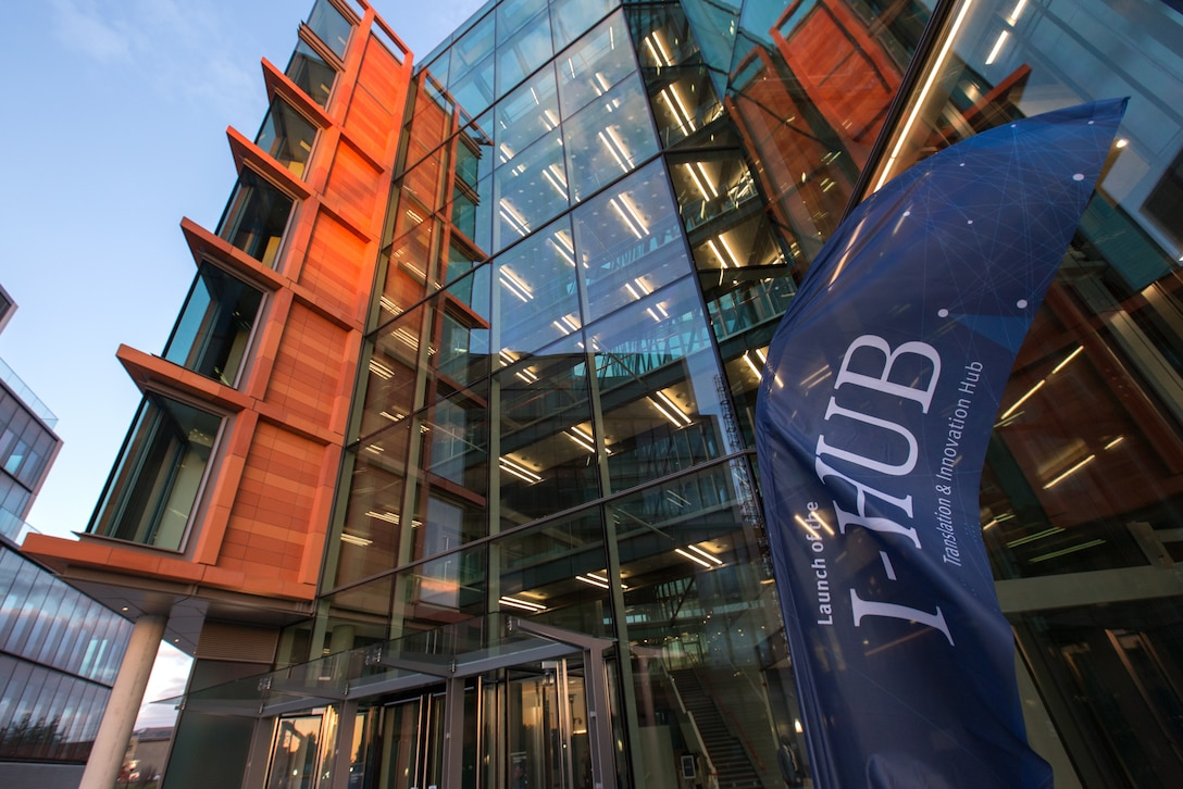 The Air Force Research Laboratory's Air Force Office of Scientific Research (AFRL/AFOSR), on June 19, became the newest tenants at the Translation and Innovation Hub (I-HUB) at Imperial College's expansive White City Campus in London — a move expected to enhance partnerships with academics, industry, non-traditional innovators, and the UK Ministry of Defence. (Photo courtesy of Stewart Oak/Imperial College of London)