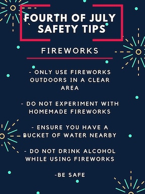 Fourth of July Safety graphic